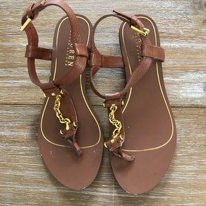 Lauren Ralph Lauren slingback low heel sandals 5